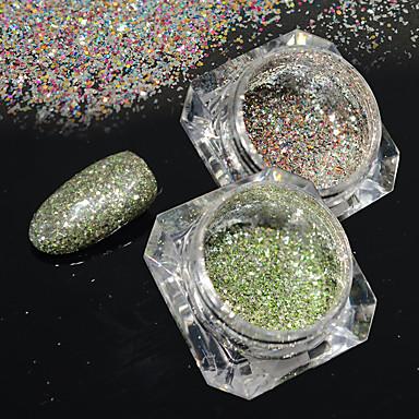 2bottles / set 0.2g / flacon moda galaxie efecte de stele unghii art platină sclipici putere superba diy strălucitoare decorare