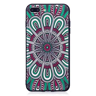 Für iphone 7 plus 6 plus 6s se 5s 5 Fallabdeckung Mandala Musterentlastung rückseitige Abdeckung weiches tpu
