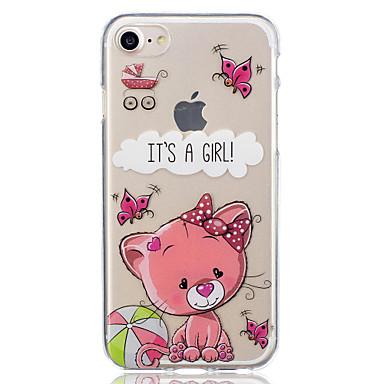 Pentru Apple iphone 7 plus 7 dragoste caz model pisica spate caz acoperire soft tpu pentru iphone 6s plus 6 plus 6s 6 5 5s se