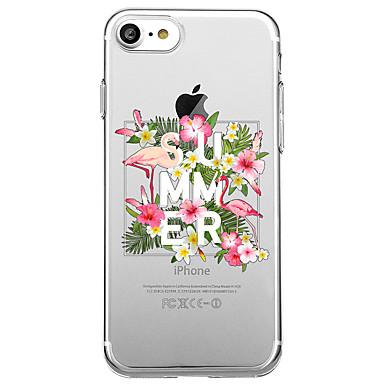 غطاء من أجل Apple شفاف نموذج غطاء خلفي جملة / كلمة البشروس طائر مائي زهور ناعم TPU إلى iPhone 7 Plus iPhone 7 iPhone 6s Plus iPhone 6