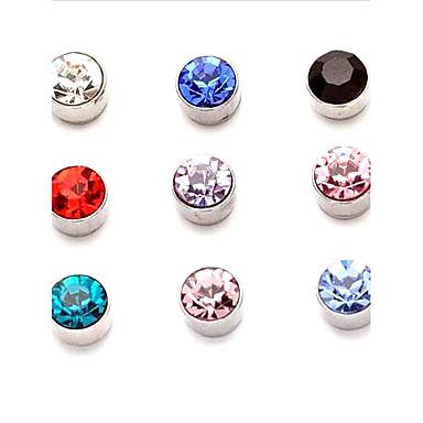 Heren Dames Oorknopjes Clip oorbellen Topaas Synthetische Sapphire Synthetische Smaragd Synthetische Ruby Granaatti Gepersonaliseerde