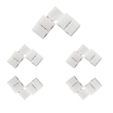 5pcs 10mm 2 pini l-forma smd 5050 5630 conector de benzi conector pentru unghi drept conector pentru benzi unice colorate benzi la