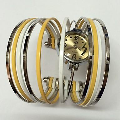 Dames Modieus horloge Kwarts Metaal Band Glitter Bangle armband Vrijetijdsschoenen Meerkleurig