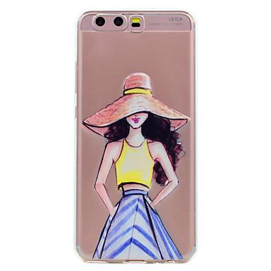 Hülle Für Apple Huawei Transparent Muster Rückseitenabdeckung Sexy Lady Cartoon Design Weich TPU für Huawei P10 Plus Huawei P10 Lite