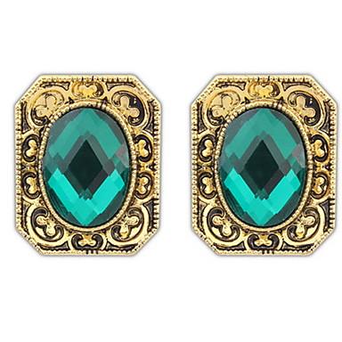 Damen Ohrstecker Tropfen-Ohrringe Kreolen Imitation Rubin Basis Einzigartiges Design Logo Stil Geometrisch Freundschaft Film-Schmuck