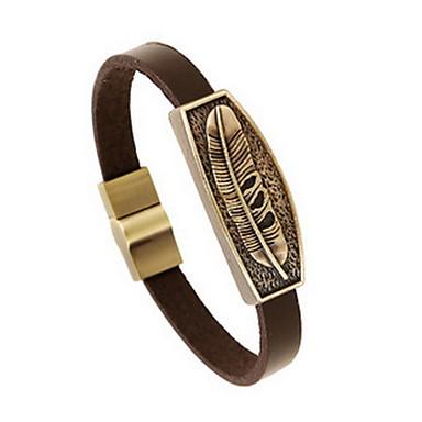 للمرأة للرجال أساور من الجلد مجوهرات الطبيعة موضة جلد سبيكة مجوهرات من أجل مناسبة خاصة