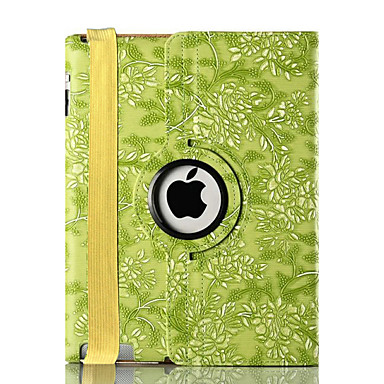 Voor apple ipad 4/3/2 case cover met statief flip 360 rotatie patroon full body case fruit hard pu leer