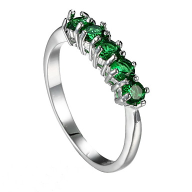 للمرأة خاتم زمردي تصميم فريد موضة euramerican في زمردي سبيكة مجوهرات مجوهرات إلى زفاف مناسبة خاصة