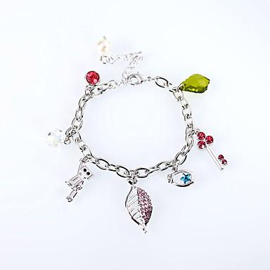 Damen Ketten- & Glieder-Armbänder Schmuck Retro Natur Modisch Handgemacht Krystall Aleación Ovale Form Schmuck Für Hochzeit Party