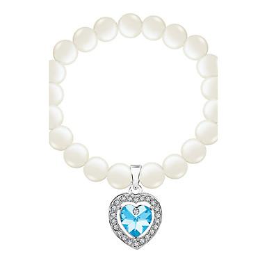 Dames Armbanden met ketting en sluiting Strand Armbanden Sieraden Vintage Natuur Modieus Met de Hand Gemaakt Parel Kristal Legering