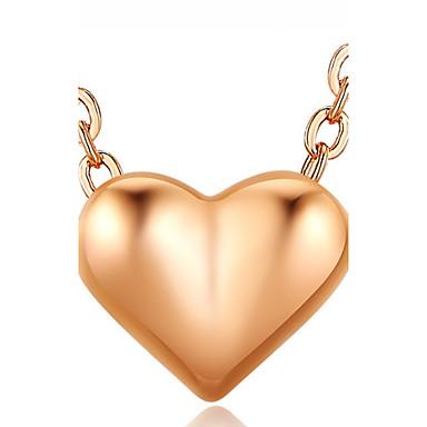 Damen Mädchen Herz Personalisiert Luxus Einzigartiges Design Anhänger Stil Klassisch Retro Böhmische Grundlegend Sexy Liebe Herz