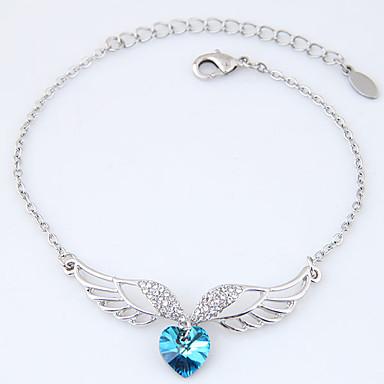 Pentru femei Brățări cu Talismane Ștras La modă Aliaj Heart Shape Aripi / Pene Bijuterii Pentru Petrecere 1 buc