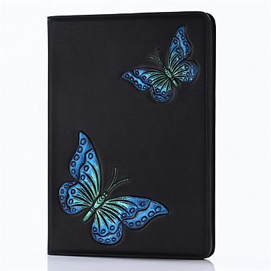 Pentru iPad 2017 9.7inch de lux din piele de lux de origine din piele acoperite model de model 3d fluture desen animat pentru ipad air2 /