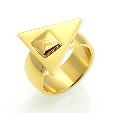 Bărbați Pentru femei Inel Inel de declarație Band Ring Zirconiu Cubic Auriu Argintiu Trandafiriu Zirconiu Cubic Oțel titan 18K Aur Rotund