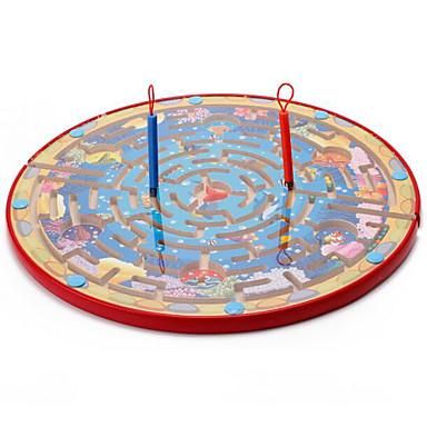 Muwanzi Bordspellen Magnetische doolhoven Speeltjes Magnetisch Groot formaat Cirkelvormig Hout Stuks Kinderen Geschenk