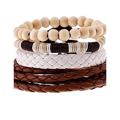 للرجال للمرأة أساور من الجلد موضة جلد Geometric Shape مجوهرات زفاف حزب الرياضة مجوهرات التقزح اللوني