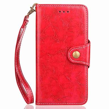 hoesje Voor Xiaomi Kaarthouder Portemonnee met standaard Flip Magnetisch Volledig hoesje Effen Kleur Hard PU-nahka voor Xiaomi Redmi Note