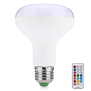 10W 580-700 lm E27 Bulbi LED Inteligenți R80 38 led-uri SMD 5050 Decorativ Telecomandă Alb Cald RGB AC 85-265V
