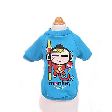 T-skjorte ملابس الكلاب متنفس جميل كاجوال/يومي كارتون أحمر أزرق كوستيوم للحيوانات الأليفة