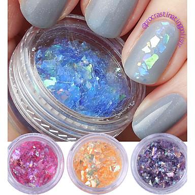 2g * 4 cutii fluorescente unghii flakies hârtie de sticlă neregulate paillette unghii art glitter paiete fulgi