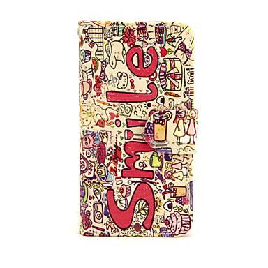 Fall für Apfel iphone 7 7 plus iphone 6s 6 plus Fallabdeckung das Lächeln englische Muster PU-lederne Fälle für iphone se 5s 5c 5 iphone