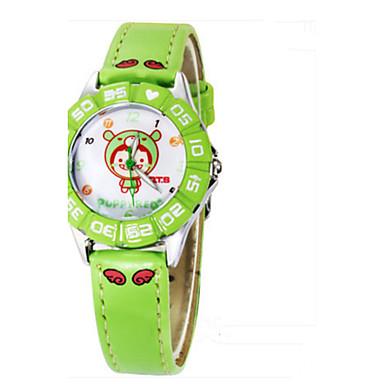 Dames Modieus horloge Chinees Kwarts Leer Band Informeel Blauw Groen