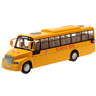Speelgoedauto's Modelauto Constructievoertuig Speeltjes Simulatie Terugtrekvoertuigen Muziek en licht Bus Metaallegering Stuks Kinderen