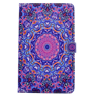 Hülle Für Samsung Galaxy Tab A 9.7 Tab A 8.0 Kreditkartenfächer Geldbeutel mit Halterung Flipbare Hülle Magnetisch Muster