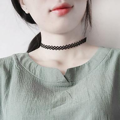 Damen Einzelkette Einzigartiges Design Klassisch Grundlegend Halsketten Schmuck Spitze Aleación Halsketten . Geburtstag Alltag Normal
