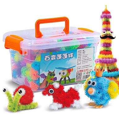 Speelgoedauto's Bouwblokken 3D-puzzels Ballen Educatief speelgoed 400 pcs DHZ Poppen Vierkant Bol Ogen Hart Unisex Geschenk