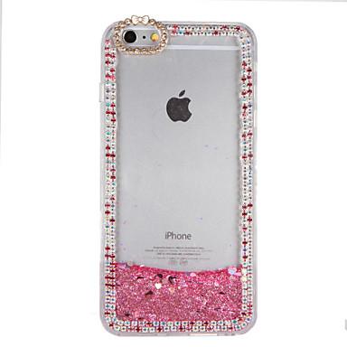 Voor strass vloeibare diy case achterkant behuizing glitter glanzende harde pc voor apple iphone 7 7 plus 6s 6 plus 5s 5