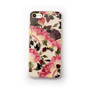 Geval voor apple iphone 7 plus 7 case cover frosted transparante patroon achterkant hoesje bloem zachte tpu voor iphone 6s plus 6 plus 6