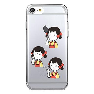 Für iphone 7 plus 7 Fallabdeckungsmuster rückseitige Abdeckungsfall reizvolle Damekarikatur weiches tpu für iphone 6s plus 6 plus 6s 5s se