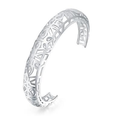 Heren Dames Cuff armbanden Modieus Verzilverd Geometrische vorm Sieraden Voor Dagelijks gebruik