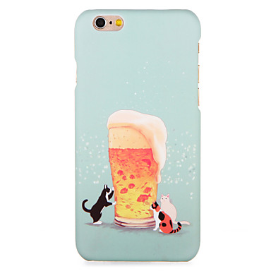 hoesje Voor Apple iPhone 7 Plus iPhone 7 Patroon Achterkant Kat Voedsel Hard PC voor iPhone 7 Plus iPhone 7 iPhone 6s Plus iPhone 6s