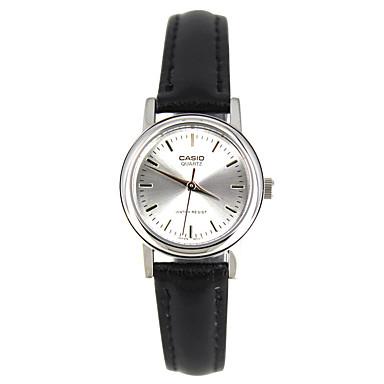 Casio للمرأة ساعة رياضية ساعات فاشن ساعة المعصم ياباني كوارتز مقاوم للماء جلد فرقة سحر عادية أنيقة أسود