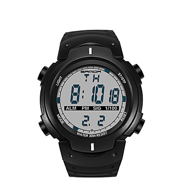 SANDA Herrn Armbanduhr Smart Watch Militäruhr Modeuhr Sportuhr Japanisch digital LED Schrittzähler Nachts leuchtend Stopuhr Fitness