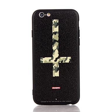 Voor apple iphone 7 7 plus iphone 6s 6 plus case cover het kruis patroon 3d reliëf plastic rug shell tpu frame gevallen