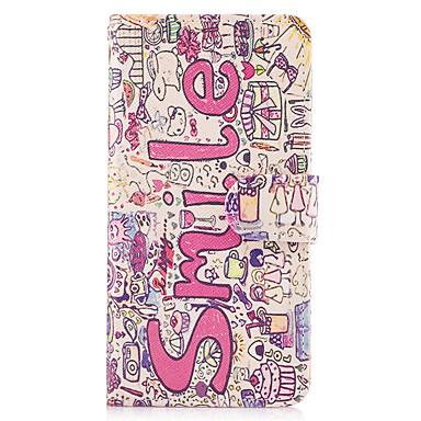 Maska Pentru Samsung Galaxy Titluar Card Portofel Cu Stand Întoarce Carcasă Telefon Cuvânt / expresie Greu PU piele pentru Note 5