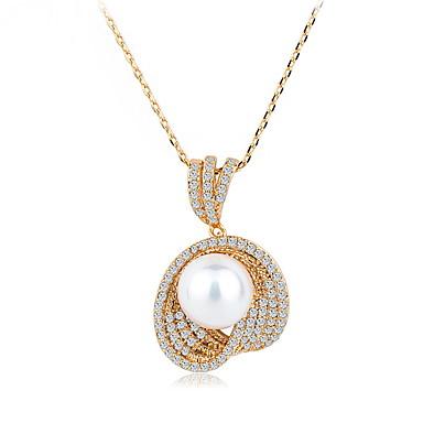 Pentru femei Coliere cu Pandativ Bijuterii Bijuterii Perle Aliaj Design Unic Modă Euramerican Bijuterii Pentru Nuntă Petrecere Zi de