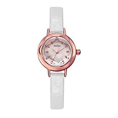 Dames Modieus horloge Kwarts Waterbestendig Leer Band Zwart Wit Rood Bruin
