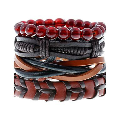 Heren Dames Lederen armbanden Modieus Leder Geometrische vorm Sieraden Bruiloft Feest Sport Kostuum juwelen