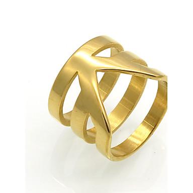 Herrn Damen Bandringe Statementringe Ring Kreisförmiges Einzigartiges Design Geometrisch Modisch Vintage individualisiert Rock