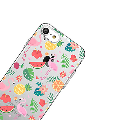 X iPhone Fenicottero Custodia 8 iPhone iPhone TPU X Morbido 05876462 per Plus iPhone 8 Per Apple Per sottile Fantasia retro disegno Ultra Frutta 7xrxCt