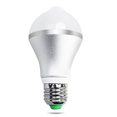 7W B22 E26/E27 Slimme LED-lampen A60 (A19) 14 leds SMD 5630 Infrarood Sensor Menselijke lichaamsensor Licht controle Warm wit Koel wit 650
