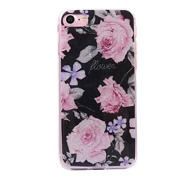Pentru Apple iPhone 7 7 plus 6s 6 plus se 5s 5 caz cove model floral flash praf imd proces tpu caz telefon