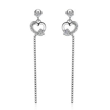 Pentru femei Cercei Picătură Zirconiu Cubic Inimă costum de bijuterii Zirconiu Placat cu platină Bijuterii Pentru Petrecere / Seară