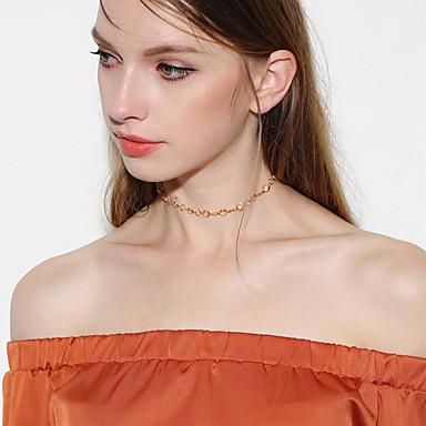 Damen Kristall Krystall Halsketten - Grundlegend Einzelkette Gold Modische Halsketten Für Weihnachts Geschenke Hochzeit Party Besondere