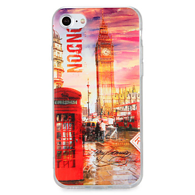 Voor apple iphone 7 7plus case cover patroon back cover case city view harde pc 6s plus 6 plus 6s 6