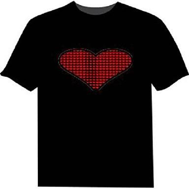 LED T-shirts 100% puuvillaa 2 AAA Batterijen